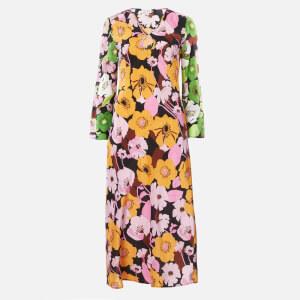 RIXO Women's Rae Maxi Dress - Abstract 60s Floral Swirl