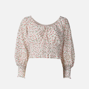 RIXO Women's Helena Top - Embroided Ditsy Floral