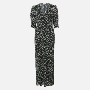 RIXO Women's Zadie Midi Dress - Ditsy Floral - Black Cream