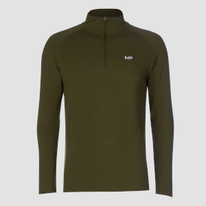 MP Performance 1/4 Zip - Army Green/Black