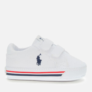 Polo Ralph Lauren Babies' Evanston Canvas Velcro Trainers - White