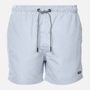 Superdry Men's Edit Swim Shorts - Blue Stripe