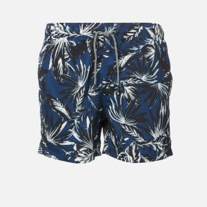 Superdry Men's Edit Swim Shorts - Edit Palm Navy