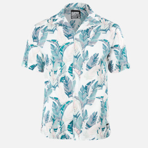 Superdry Men's Hawaiian Box Shirt - Feather Leaf White