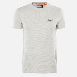 Superdry Men's Vintage Emblem T-Shirt - Silver Glass Feeder