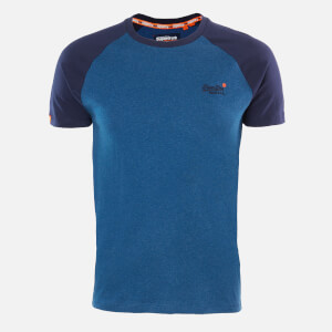 Superdry Men's Classic Baseball T-Shirt - Rich Blue Marl