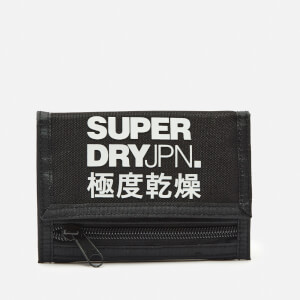 Superdry Men's Trifold Polyester Wallet - Black
