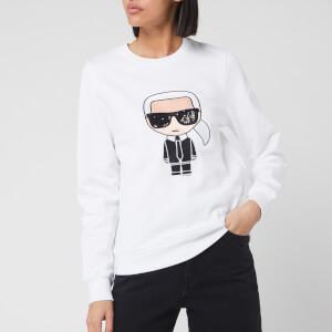 Karl Lagerfeld Women's Ikonik Karl Sweatshirt - White