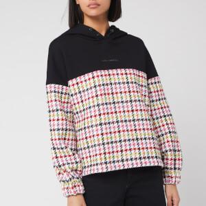 Karl Lagerfeld Women's Boucle Jersey Mix Hoodie - Multi