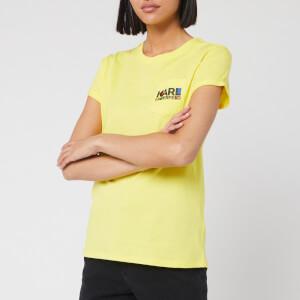 Karl Lagerfeld Women's Bauhaus Logo Pocket T-Shirt - Yellow