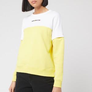 Karl Lagerfeld Women's Colour Block Cutout Sleeve Sweatshirt - Yellow