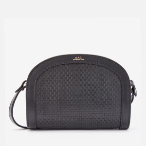 A.P.C. Women's Mini Demi Lune Braided Bag - Black