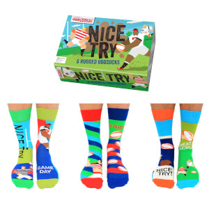 United Oddsocks Men's Nice Try Socks Gift Set
