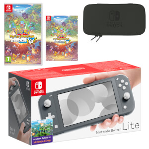 Nintendo Switch Lite (Grey) Pokémon Mystery Dungeon: Rescue Team DX Pack