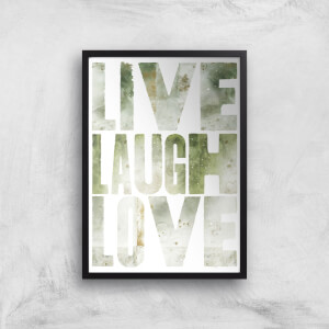 LIVE LAUGH LOVE Giclée Art Print