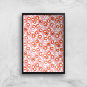 Blush Sharp Flowers Giclée Art Print