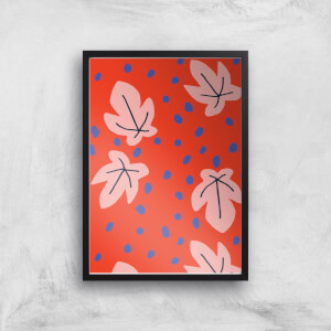 Abstract Dots And Leaves Giclée Art Print