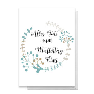 Alles Gute Zum Muttertag Omi Greetings Card
