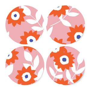 Light Tone Florals Coaster Set