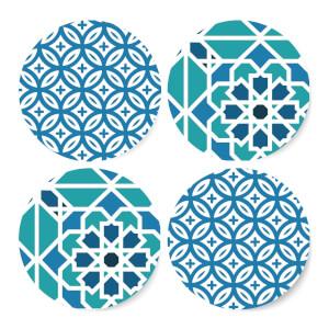 Cool Tone Tiles Coaster Set