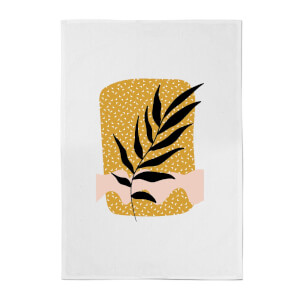 Geometric Branch Cotton Tea Towel