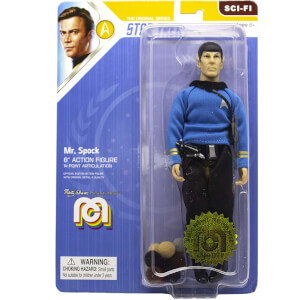 Mego Star Trek - Mr. Spock - Blue Shirt and Tribbles 8 Inch Action Figure