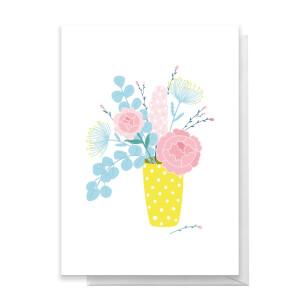 Flowers In Vase Greetings Card