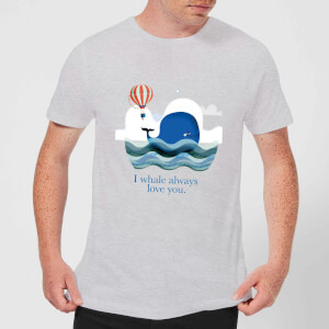 I Whale Always Love You Men's T-Shirt - Grey