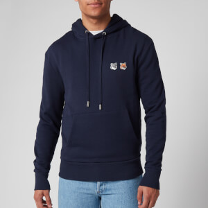 Maison Kitsuné Men's Double Fox Head Patch Hoody - Navy