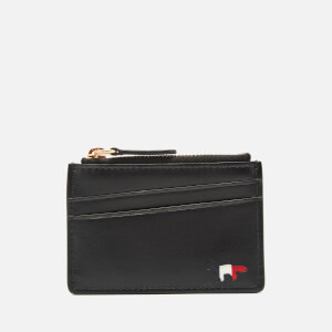 Maison Kitsune Men's Tricolor Leather Zipped Card Holder - Black