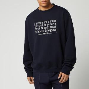 Maison Margiela Men's Diagonal Sweatshirt - Dark Blue