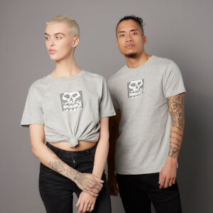 Camiseta Borderlands 3 Skull - Unisex - Gris