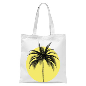 Palm Tree Times Tote Bag - White