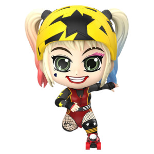 Hot Toys Birds of Prey Cosbaby Mini Figure Harley Quinn (Roller Derby Version) 11cm
