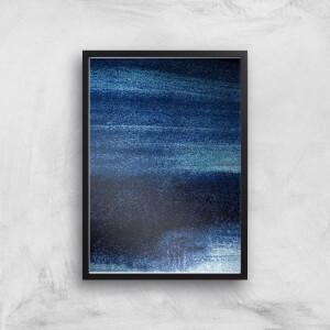 Blue Streaks Giclee Art Print