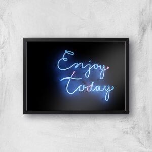 Neon Enjoy Today Giclee Art Print