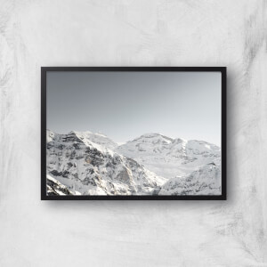 Snow Caked Mountains Giclee Art Print
