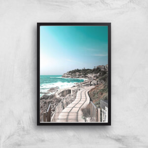 Coastal Walk Way Giclee Art Print