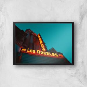 Neon Los Angeles Giclee Art Print