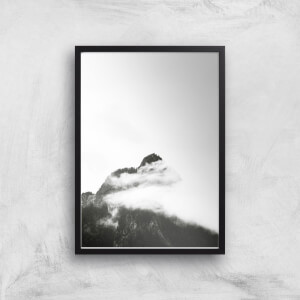 Black & White Mountain Giclee Art Print