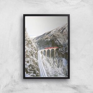 Train Journey Through The Snow Giclee Art Print