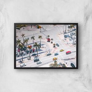LA Roads Giclee Art Print