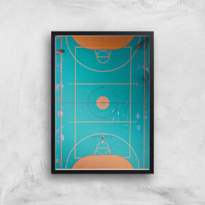 Basket Ball Court Giclee Art Print