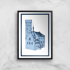 Blue Castle Giclee Art Print