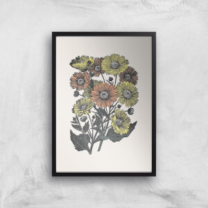 Yellow And Orange Flowers Giclee Art Print