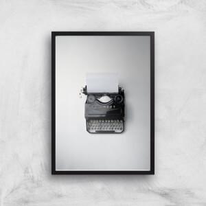 Typewriter Giclee Art Print
