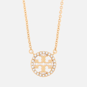 Tory Burch Women's Crystal Logo Delicate Necklace - Tory Gold