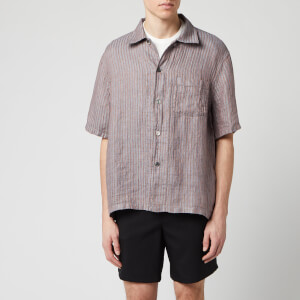 Our Legacy Men's Box Linen Shirt - Linen Stripe