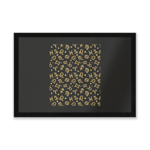 Horoscope Pattern Entrance Mat