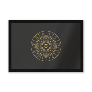Decorative Planet Symbols Entrance Mat